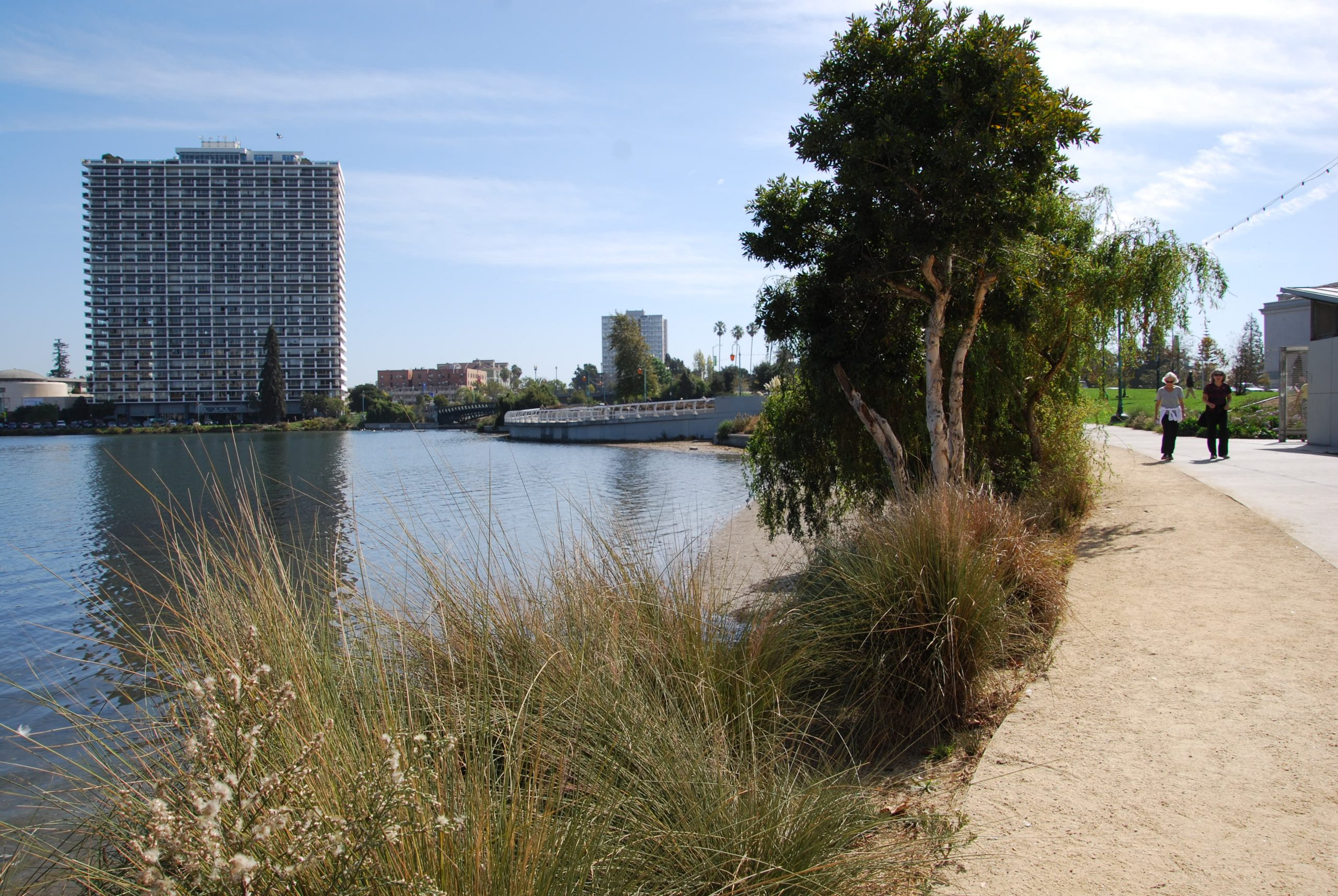 New pedestrian walkways on the south end of Lake Merritt have made it much more inviting. Photo by Scott Morris.