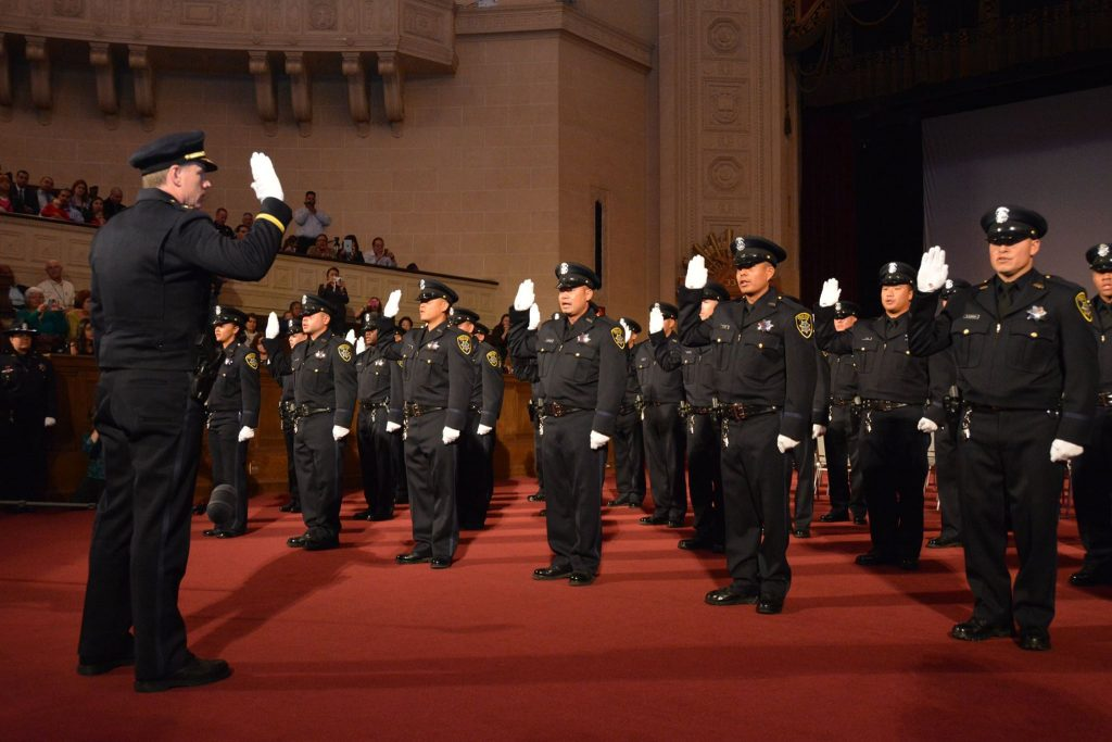 The 170th Oakland police academy graduation. Oakland Police Department photo.