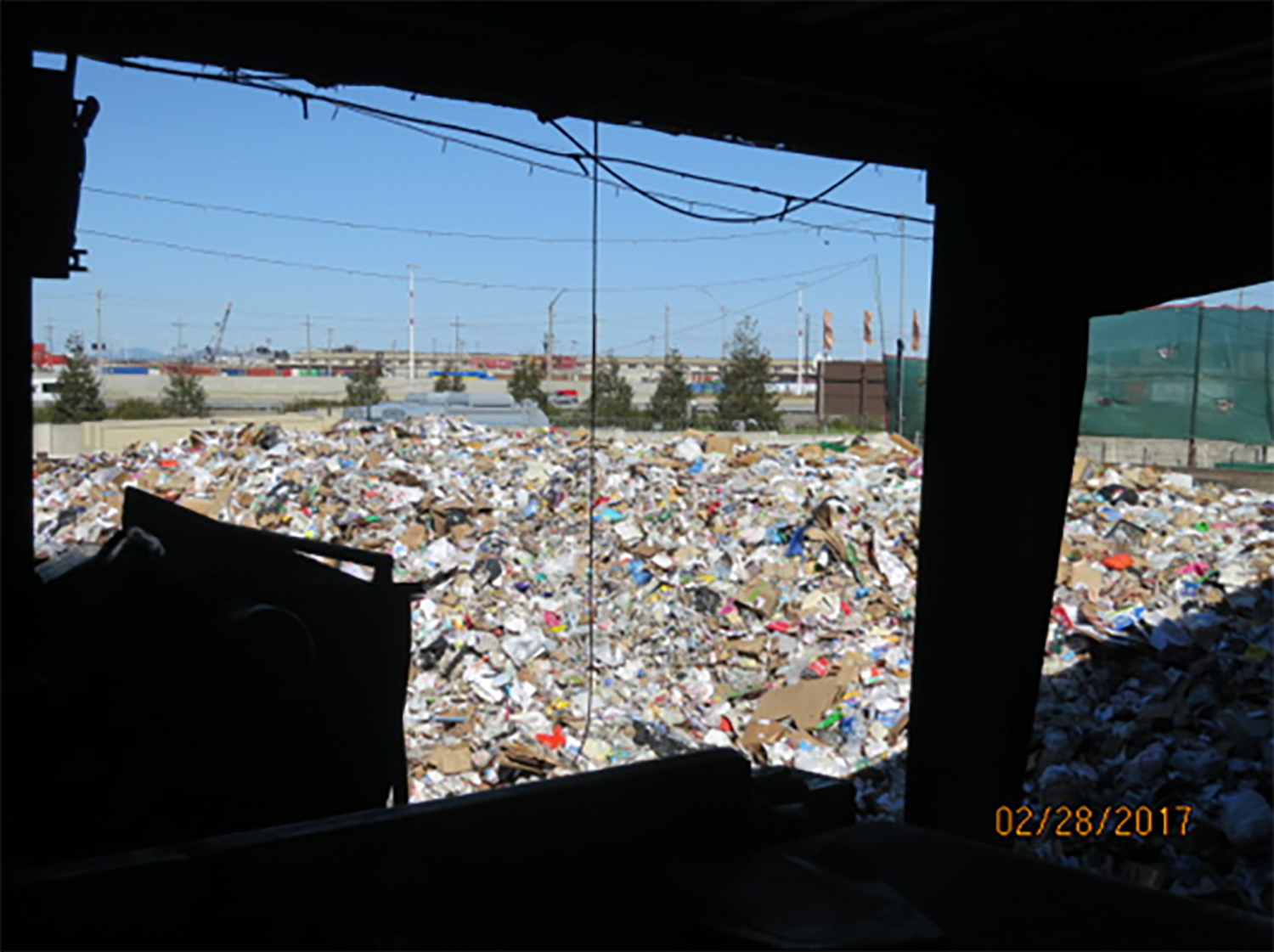 California Waste Solutions 10th Street facility during a Feb. 28, 2017, inspection. CalRecycle photo.
