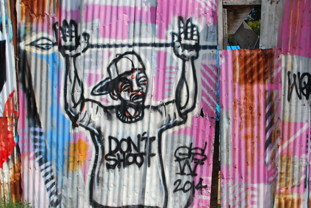 Graffiti in West Oakland in 2016. Photo by Scott Morris.