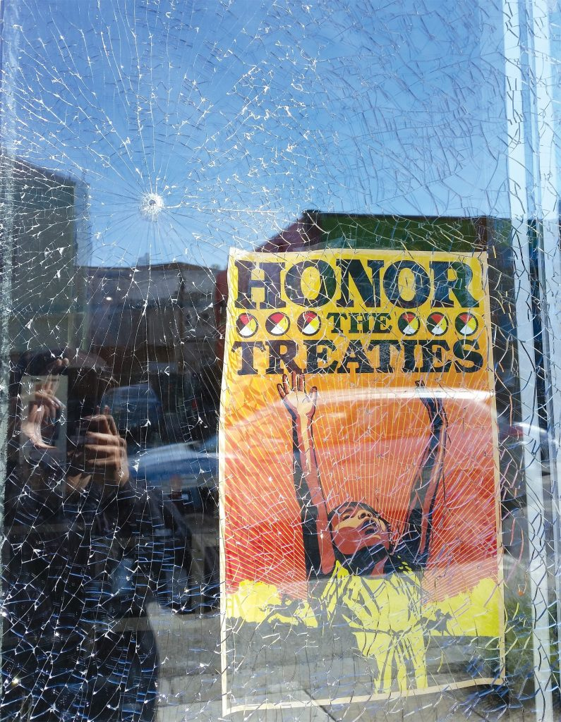 Vandals shot out the windows of Alchemy Collective Cafe in Berkeley twice this year. Photo courtesy Alchemy Collective Cafe.