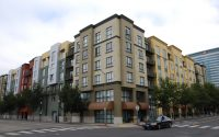 Apartment buildings in downtown Oakland. Photo by Scott Morris.